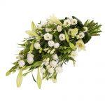 Rouwboeket witte rouwbloemen bezorgen
