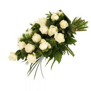 Rouwboeket witte rozen bezorgen