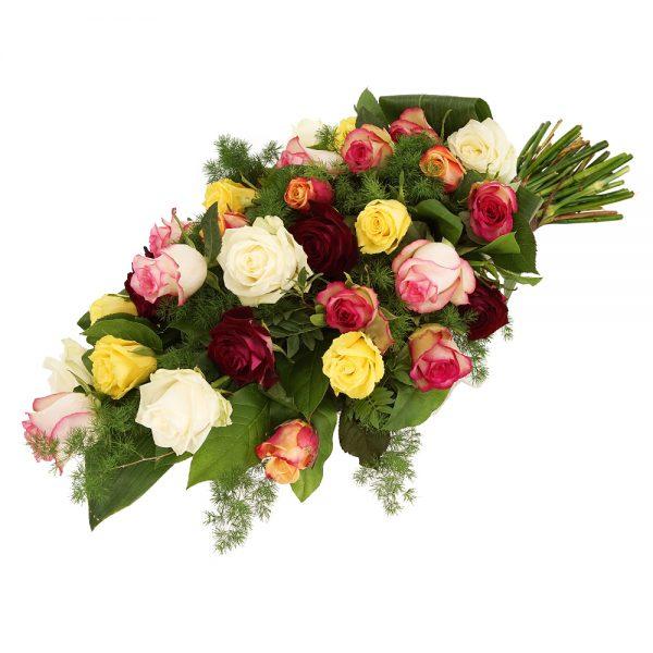 Rouwboeket mixed rozen bestellen