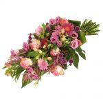 Rouwboeket roze rouwbloemen